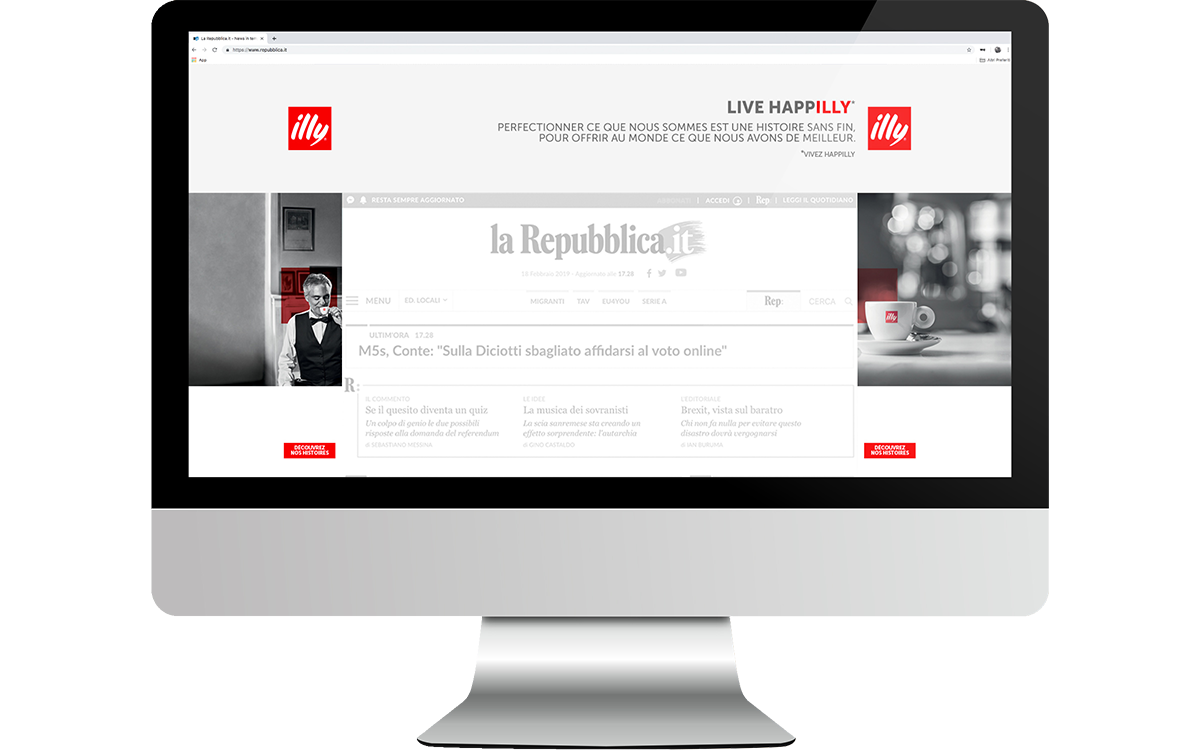 TANDEM_Communication_Partner_PRODUZIONE_DIGITAL_ADVERTISING_illy_Bocelli_happilly_skin_Homepage